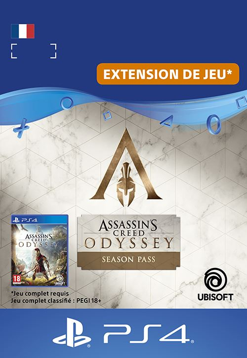 Code de téléchargement Assassin's Creed Odyssey Season Pass PS4