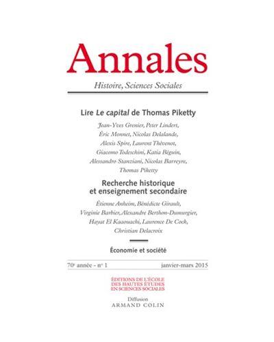 Annales histoire sciences sociales 2015/1