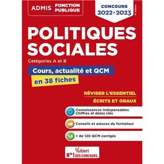 Politiques sociales, Cours et QCM, L'essentiel en 38 fiches, Catégories A et B