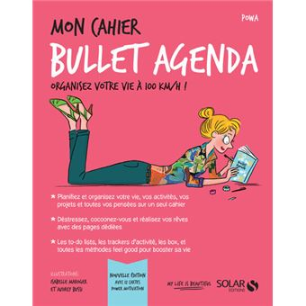 Mon Cahier Bullet Agenda Broché Powa Isabelle Maroger Audrey