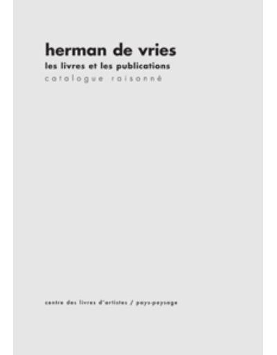 Les livres et les publications – Catalogue raisonné