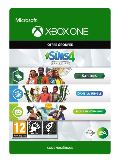 Code de téléchargement Les Sims 4: Saisons + Dans la jungle + Accessoires Effrayants Xbox One