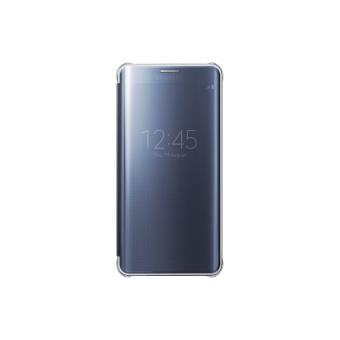 Etui Samsung Clear View Cover pour Galaxy S6 Edge Noir