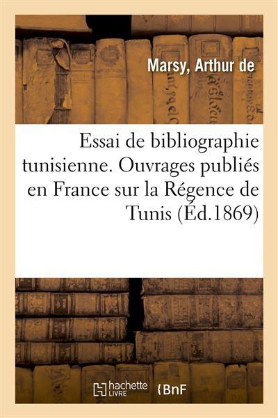 Essai de bibliographie tunisienne