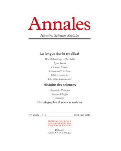 Annales histoire sciences sociales 2015/2