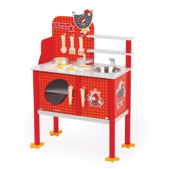 Maxi cuisine en bois janod the french cocotte cuisine - Cuisine en bois jouet club ...