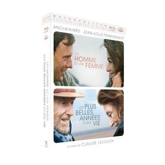 Coffret Les plus belles années d'une vie et Un homme et une femme Edition Collector Limitée Combo Blu-ray DVD