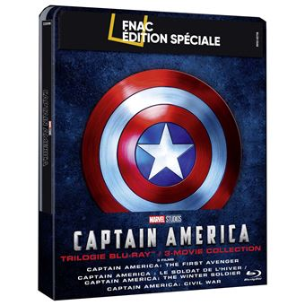 Captain AmericaCoffret Captain America La Trilogie Steelbook Exclusivité Fnac Blu-ray