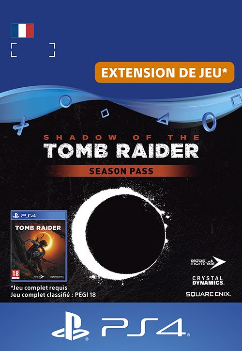 Code de téléchargement Shadow of the Tomb Raider Season Pass PS4