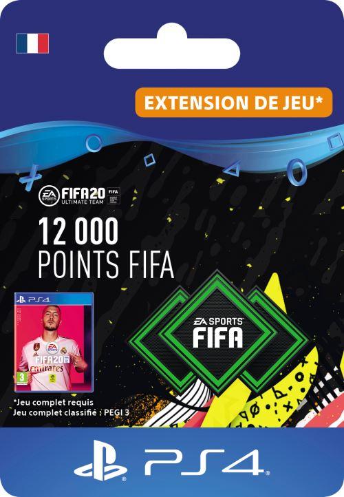 Code de téléchargement FIFA 20 Ultimate Team 12000 points PS4