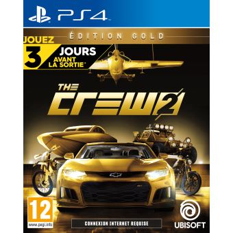 the crew 2 edition gold ps4 jeux vid o achat prix fnac. Black Bedroom Furniture Sets. Home Design Ideas