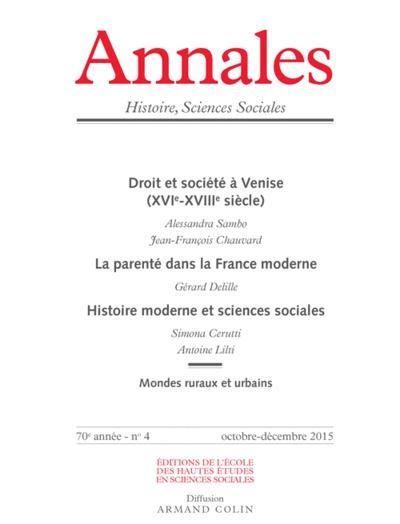 Annales histoire sciences sociales 2015/4