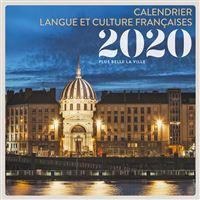 Calendrier Langue et culture françaises 2020