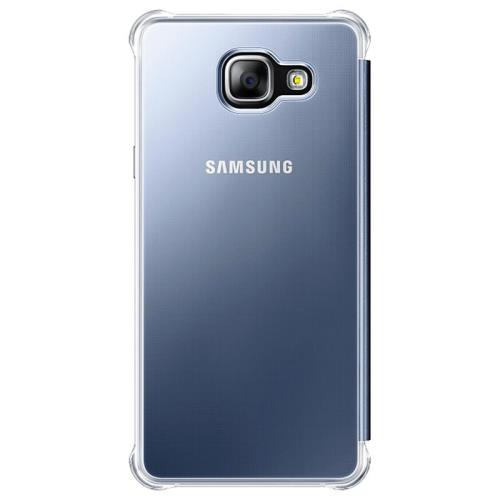 Etui à Rabat Samsung Clear View pour Galaxy A5 2016 Bleu/Noir