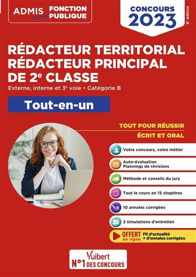 0929b546316 Concours Rédacteur territorial et Rédacteur principal 2ème classe ...