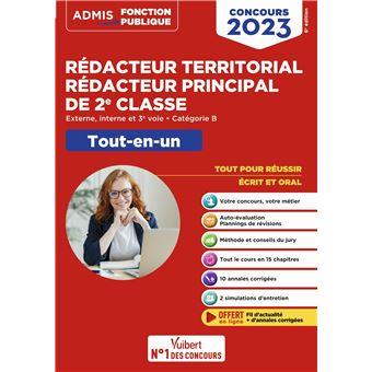 dfbcac84089 Concours Rédacteur territorial et Rédacteur principal 2ème classe ...