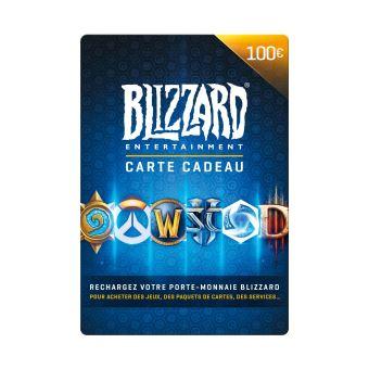 Carte Cadeau Blizzard.Code De Telechargement Carte Cadeau Blizzard Entertainment 100