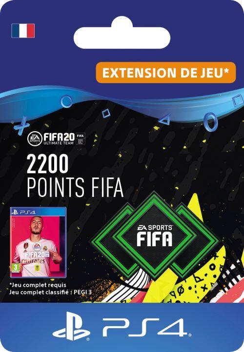 Code de téléchargement FIFA 20 Ultimate Team 2200 points PS4