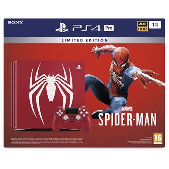 PS4 PRO 1TB BLACK/LE SPIDERMAN