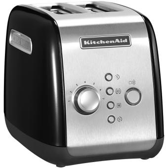 Kitchen Toaster 2 Slices Black