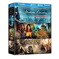Abraham Lincoln, tueur de zombies - Hansel et Gretel - Thor et le marteau des dieux Coffret 3 Blu-Ray