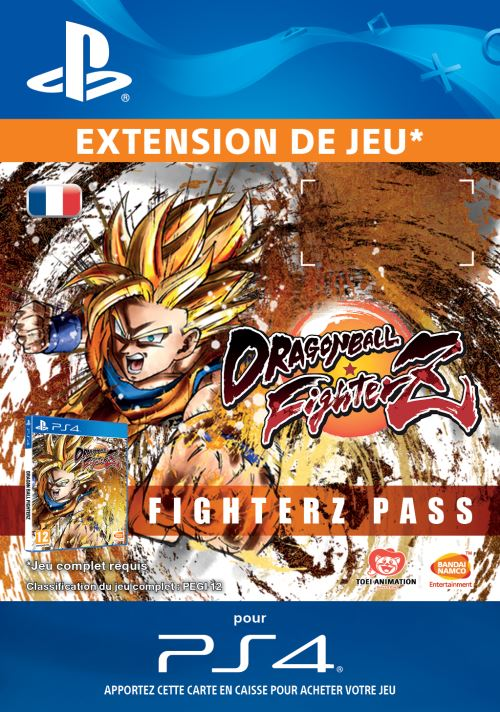 Code de téléchargement Dragon Ball FighterZ FighterZ Pass PS4