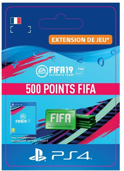Code de téléchargement FIFA 19 Ultimate Team 500 Points PS4