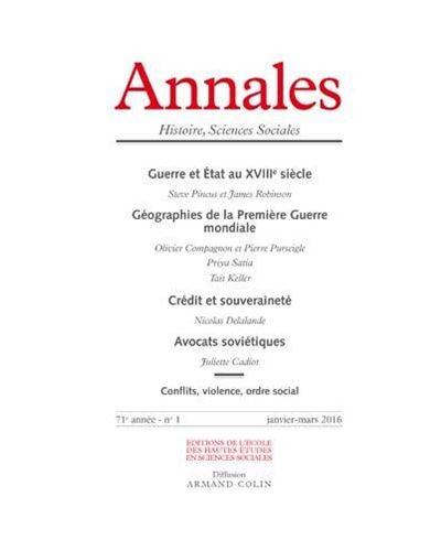 Annales histoire sciences sociales 2016/1