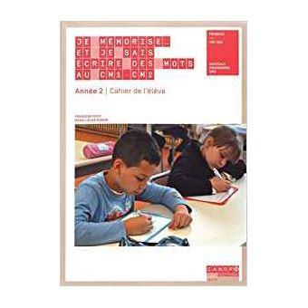 Je mémorise et je sais écrire des mots au CM1-CM2, Cahier d'exercices Workbook, Année 2