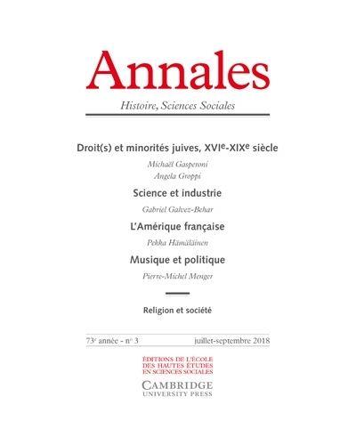 Annales histoire sciences sociales 2018/3