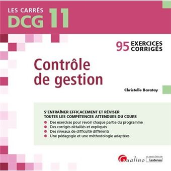 Carrés DCG 11, Exercices corrigés Contrôle de gestion