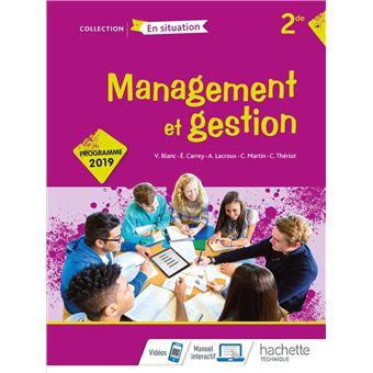 Management Et Gestion Option 2de Livre Eleve Ed 2019