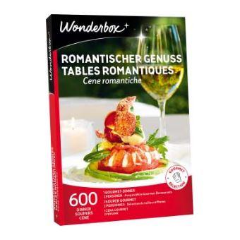 Coffret cadeau Wonderbox Tables romantiques