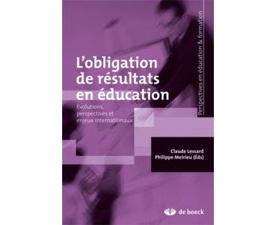 L'obligation des résultats en éducation