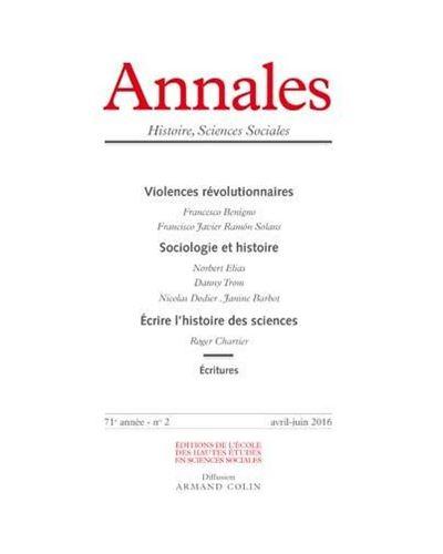 Annales histoire sciences sociales 2016/2