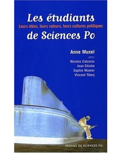 Les étudiants de Science Po leurs idées, leurs valeurs, leur cultures politiques