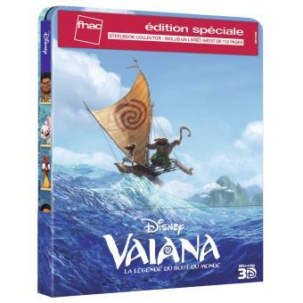 VaianaVaiana, la légende du bout du monde Steelbook Edition spéciale Fnac Blu-ray 3D