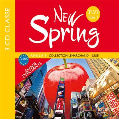 New Spring anglais 3e LV2 (A2) - CD audio classe