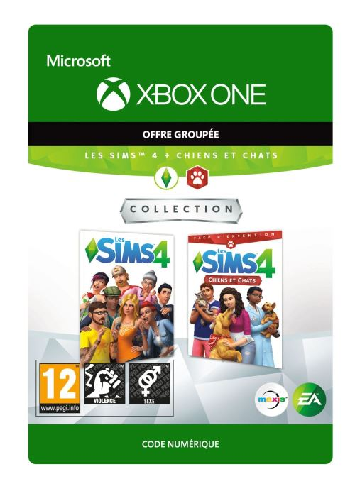 Code de téléchargement Les Sims 4 + Chiens et Chats Xbox One