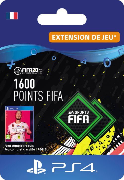 Code de téléchargement FIFA 20 Ultimate Team 1600 points PS4