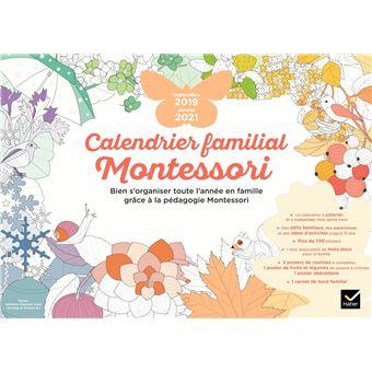Calendrier familial Montessori septembre 2019   janvier 2021