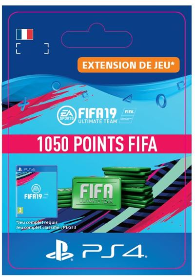 Code de téléchargement FIFA 19 Ultimate Team 1050 Points PS4