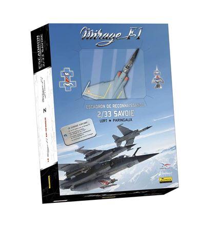 Mirage F-1 - COFFRET MIRAGE F-1 LIVRE + INSIGNE + CERTIFICAT + MAQUETTE METAL AU 1/72EME