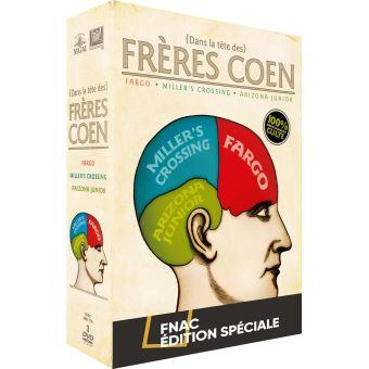 Coffret Dans la tête des Frères Coen 3 Films Edition Limitée Spéciale Fnac DVD