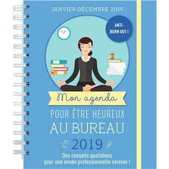 Mon agenda pour être heureux au bureau 2019