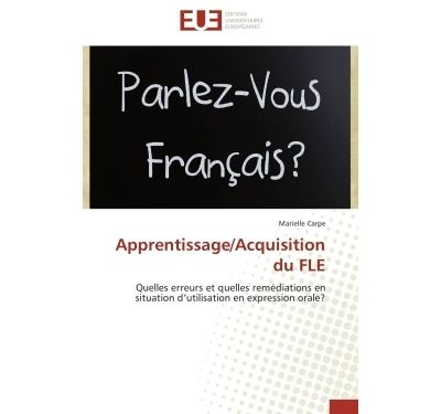 Apprentissage/acquisition du fle