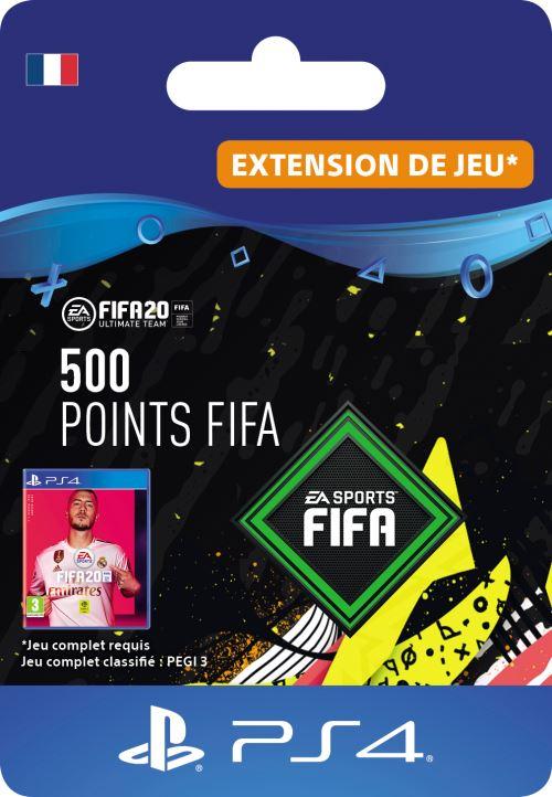 Code de téléchargement FIFA 20 Ultimate Team 500 points PS4