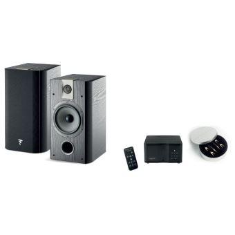 Pack d'enceintes Focal My Focal System Chorus 706 + Amplificateur MyAMP Microméga Noir