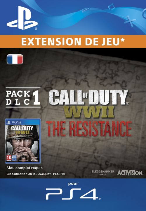 Code de téléchargement Call of Duty WWII The Resistance PS4