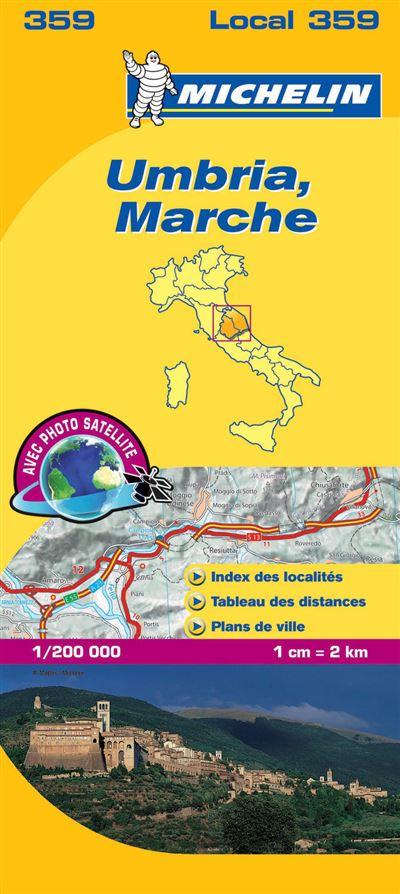 Carte LocalUmbria, Marche Michelin